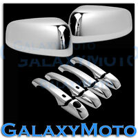Chrome TOP HALF Mirror+4 Door Handle+Smart Hole Cover for 11-14 Dodge Durango