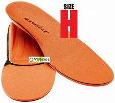 Superfeet ORANGE Insoles Inserts Orthotic Arch Support MEN Shoe Size 15.5 -17 #H