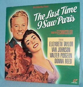 LD laserdisc LAST TIME I SAW PARIS Elizabeth Taylor