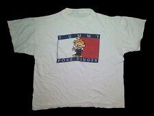 Vtg Tummy Tommy Poke Finger Single Stitch Shirt - Tommy Hilfiger