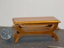 Dollhouse Miniature Coffee Table Walnut 1:12 one inch scale N57 Dollys Gallery