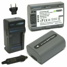 Wasabi Power Battery (2-Pack) and Charger for Sony NP-FP30, NP-FP50