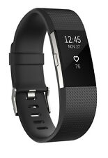Fitbit Charge 2 Heart Rate and Fitness Wristband, Large - Black (Fb407Sbkl)
