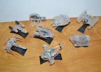 Vintage MICRO MACHINES STAR WARS X-Ray Fleet Lot AT-AT Slave 1 Sandcrawler 1996