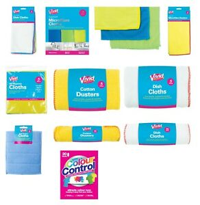 Dish Cloths, Microfibre Cleaning Cloths,Cotton Dusters Washable & Long Lasting