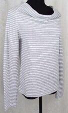 NWT $145 James Perse Heathered Stripe Drape Tee/ Lightweight Sweatshirt; 2