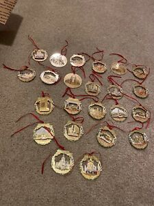 Vintage Portland Christmas Ornaments Lot Betty woods Gimatelli Artist Of 23