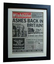 WISHBONE ASH+Front Page News+POSTER+AD+ORIGINAL 1977+FRAMED+EXPRESS GLOBAL SHIP
