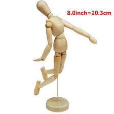 "Wooden Wood Human Figure 8.0"" inch Unisex Manikin Mannequin Artist Drawing Model"
