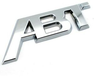 ABT CHOME SILVER Rear Tailgate Boot Badge SPORTS LINE VW AUDI SKODA SEAT