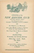 "Opening Invitation, The New Eddyside Club, ""Easton's Biggest Asset"", Easton Pa"