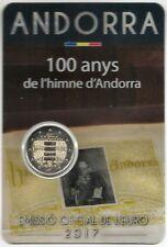 Andorra 2 Euros 2017 100 Aniversario Imno @ Novedad Febrero 2018 @ 7ª emisión @