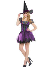 Sexy Purple SEQUIN WITCH Adult Womens Halloween Costume & WIG NEW SZ Small 4-6