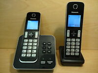 Panasonic KX-TGD322EB Cordless House Home Phone with Answering Machine Twin -BOX