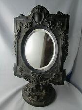 ancien miroir glace psychee bois sculpté napoleon III st LOUIS XVI de toilette