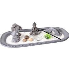 35 cm Bouddha Zen Maison de Jardin Relax spirituel Pebbles Tea Light Candle Sable plaque