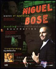 MIGUEL BOSE__Original 1994 Trade Print AD music promo / poster__ Bosé