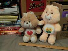 '80s Plush ~ Care Bears ~ Tenderheart + Friendship ~ 12'' Kenner ~ Vtg Ltd ~ ^v^