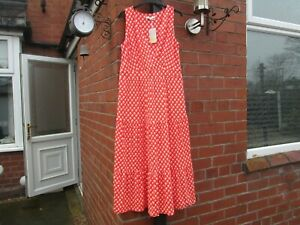 Boden Nicole Jersey Midi Dress 14L  J0211 Orange Floral Ditsy