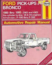 Ford Pick-Ups & Bronco Haynes Repair Manuel 1980-1990 2 & 4WD