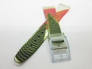 Patterned Resin 18mm Watch Strap Band with Plastic Buckle
