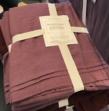 Williams Sonoma Italian Washed Linen Table Runner 108L Thanksgiving Pansy Mist