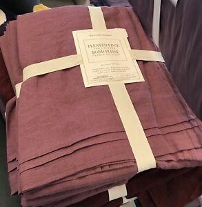 Williams Sonoma Italian Washed Linen Table Runner 18x108L Purple