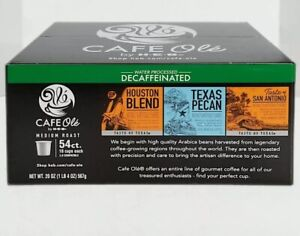 HEB Variety Coffee K-cup Pods 54CT, Water-Processed DECAFFEINATED, 18 Cups Each