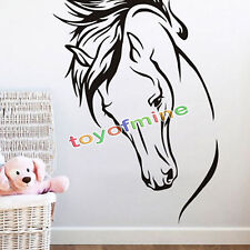Horse Head Wall Stickers Decals Home Decor Art Removable Vinyl Mural Decoration