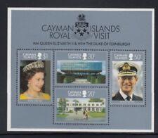 CAYMAN ISLANDS Royal Visit of Queen Elizabeth II MNH souvenir sheet