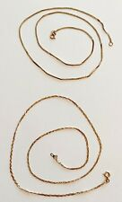"2 Chains Necklaces 14K Yellow Gold 17.5"" & 18"" 3.7 Grams Total Weight"