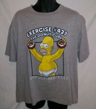 Mens XL T Shirt Homer Simpson Donut Curl Exercise #427 2002 Fox