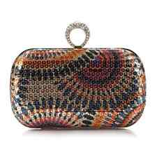 Peacock Grains Style Circle Sequins Evening Clutch Bag Style : 4#