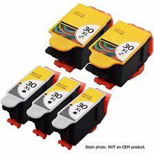 5 Pack 30 XL 30XL Black & Color Ink Cartridges Combo for Kodak ESP C315 Printer