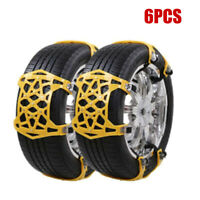 6x Winter Anti-skid Chains for Car Snow Mud Ice Wheel Tire Snow Chains two tires