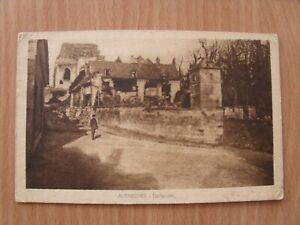 Ansichtskarte, AK, Autreches, Dorfstraße, Frankreich, Feldpost, 1917, alt