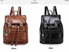 Back To School Vintage Look Pu Leather Backpack For Girls.REDUCED TO CLEAR.