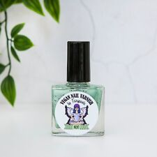 Vegan Nail Varnish cruelty free, 5 free Pastel Mint green Indie nail polish