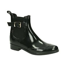 Damen Gummistiefel Regenstiefel Boots Stiefeletten Stiefel Schuhe Chelsea NEU 06