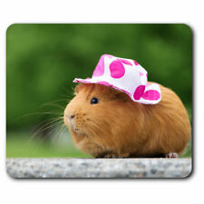 Computer Mouse Mat - Sweet Guinea Pig Lady Female Office Gift #24494