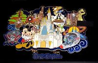 LE Disney SUPER JUMBO Pin✿RARE Mickey Haunted Mansion Pirates Train Stitch POTC+