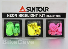 NOS Suntour Neon Highlight Kit for X-1 MTB Group Chroma OT-NH01 Green Pink Yello