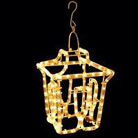 LED Outdoor Christmas Silhouette Lantern Rope Light Garden Hanging Decoration