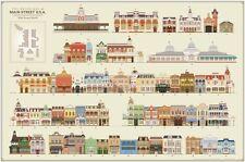"The Buildings of Main Street Walt Disney World Poster 24"" X 36"".  By C Buchholz"