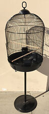 Round Dome Bird Cage Finch Canary Cockatiel Parakeet Bird Cage With Stand 542
