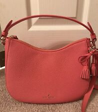 Kate Spade Hayes Street Small Aiden Warm Guava Coral Satchel Crossbody New