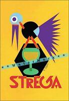 Strega Liquor 1928 Italian Futurism Art Vintage Poster Print Retro Style Art