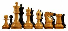 "Reproduction BCC 1900-01 Edition Staunton 4.4"" Antiqued Box wood/Ebony Chessmen"