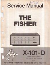 Fisher Radio Corp. Integrated Amp. Original Service Manual. Money Back Guarantee
