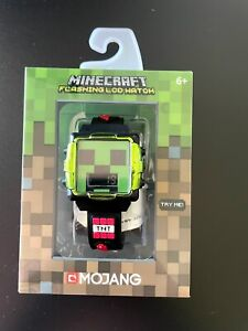 MINECRAFT WATCH WITH CREEPER FACE